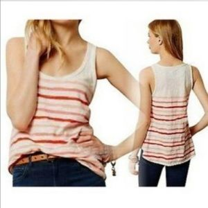 Anthropologie Pure Good Striped Tank Size M